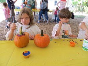 pumpkin painting at Goblins and Gourds