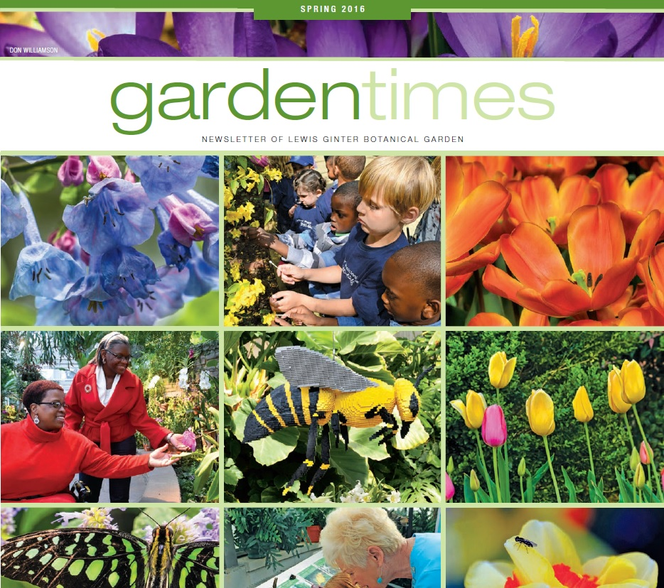 Garden Times Newsletter cover page