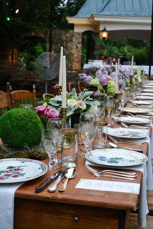wine dinner table setting
