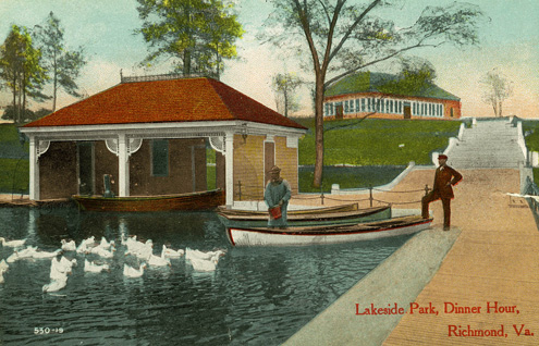 Lakeside Park, Dinner Hour postcard