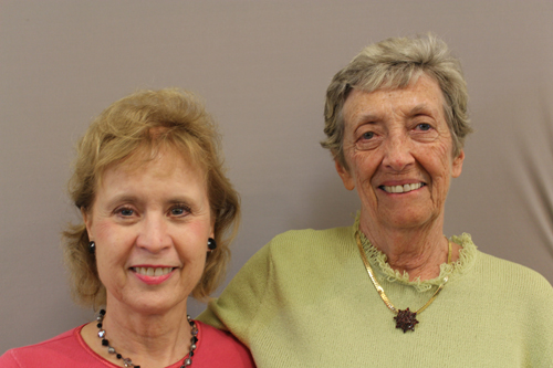 Fran Purdum and Sharon Francisco Long-time Volunteers