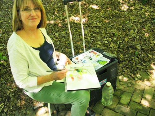 Patti Bartol, en plein air artist and instructor
