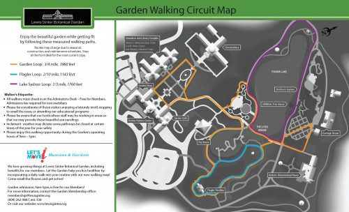 Lewis Ginter Botanical Garden Walking Map