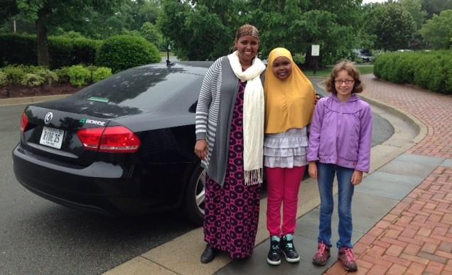 Amina Abdulkadir Lilah Monroe on their way to the White House