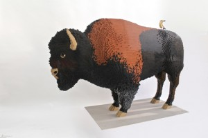 Bison in Nature Connects exhibit