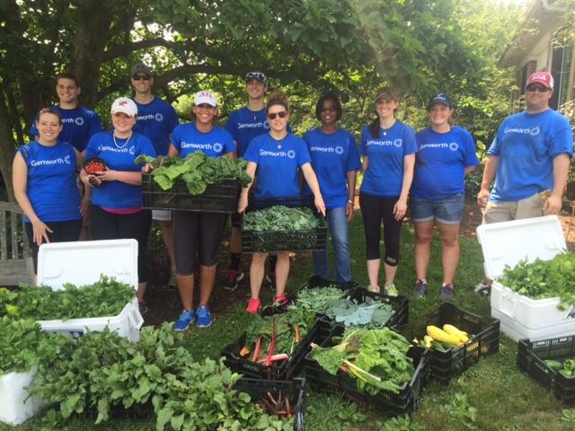 Volunteers from Genworth Financial.