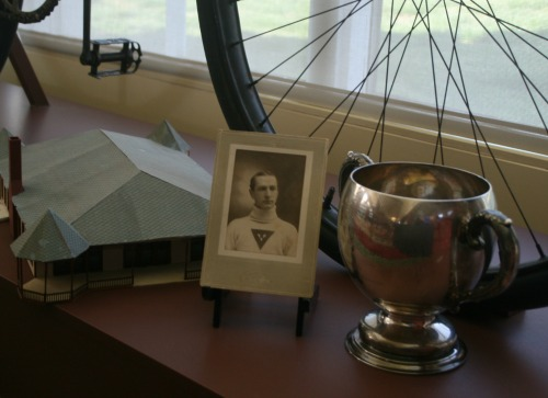 Albert S. Tanner and his trophy