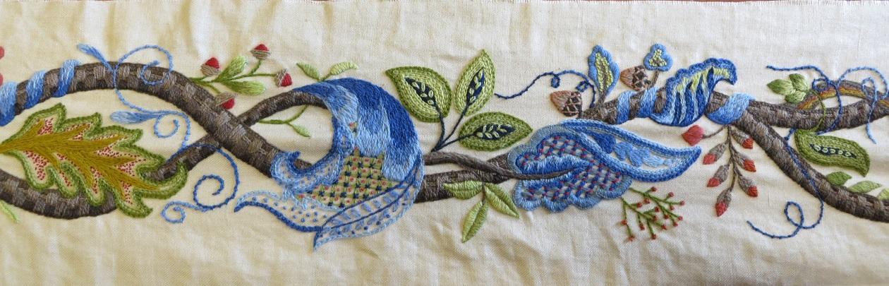 jacobean embroidery  the tree of life