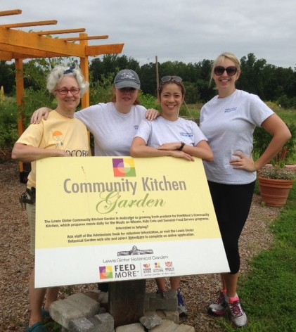 Volunteers from the Federal Reserve Bank helped us get some late summer vegetables planted.