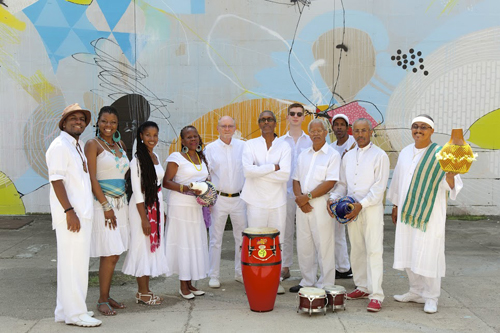 the members of Ban Caribe band