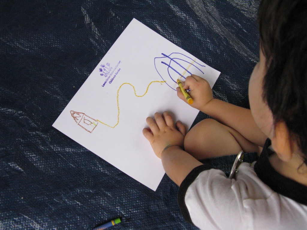 As campers listen to The Tale of Peter Rabbit, they map out all of the key locations in the story.