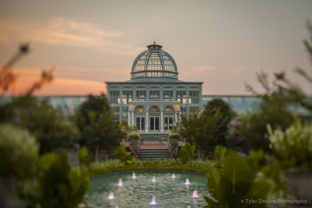 The Conservatory at sunset photo by Tyler Darden