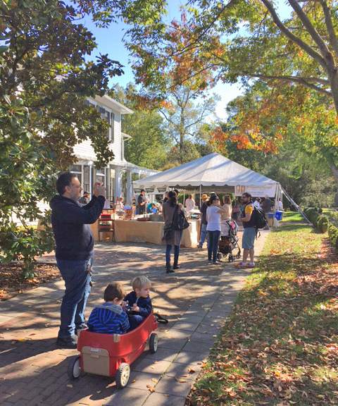Families enjoying OktoberFest at Lewis Ginter Botanical Garden