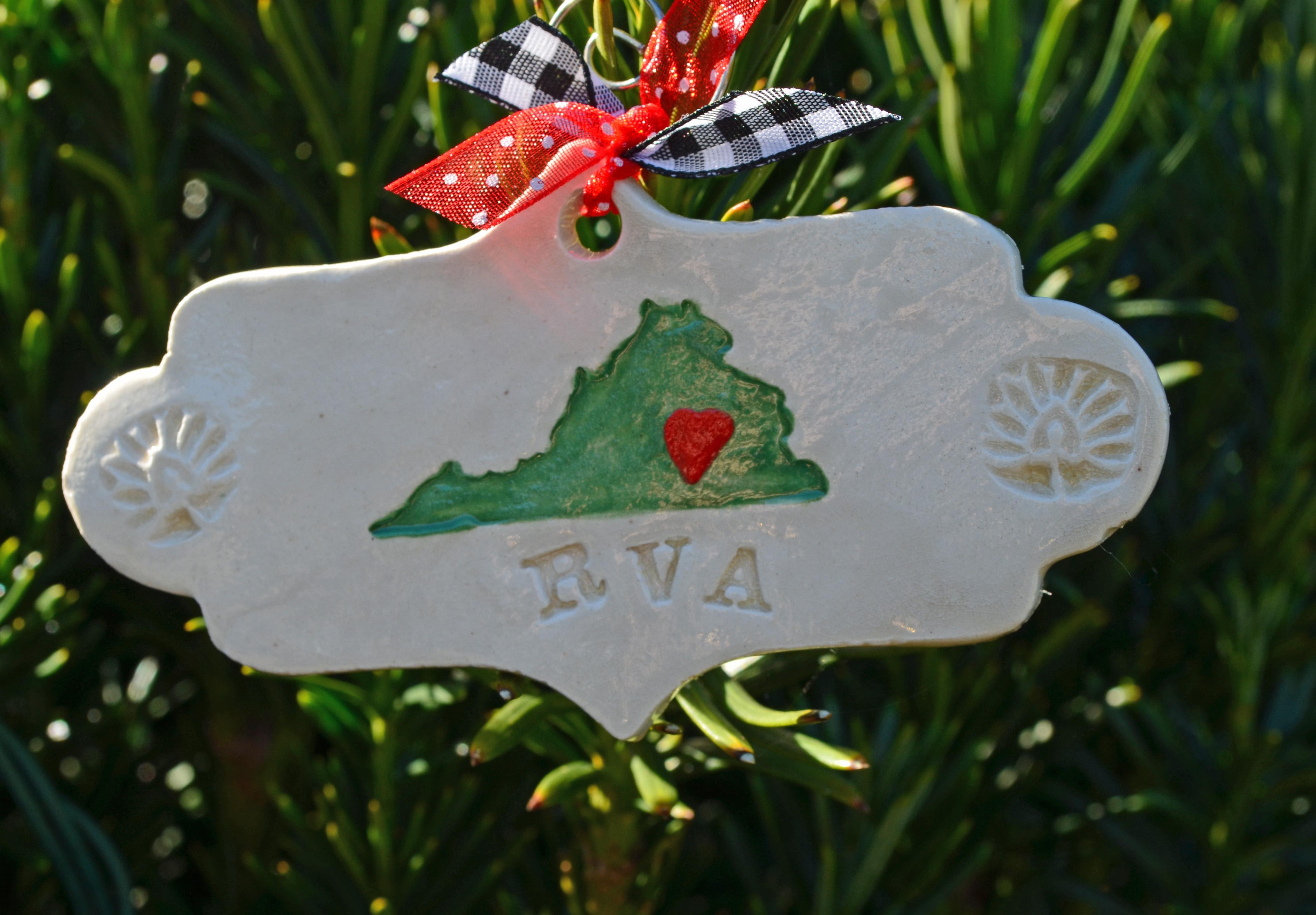 Holiday ornament Virginia RVA