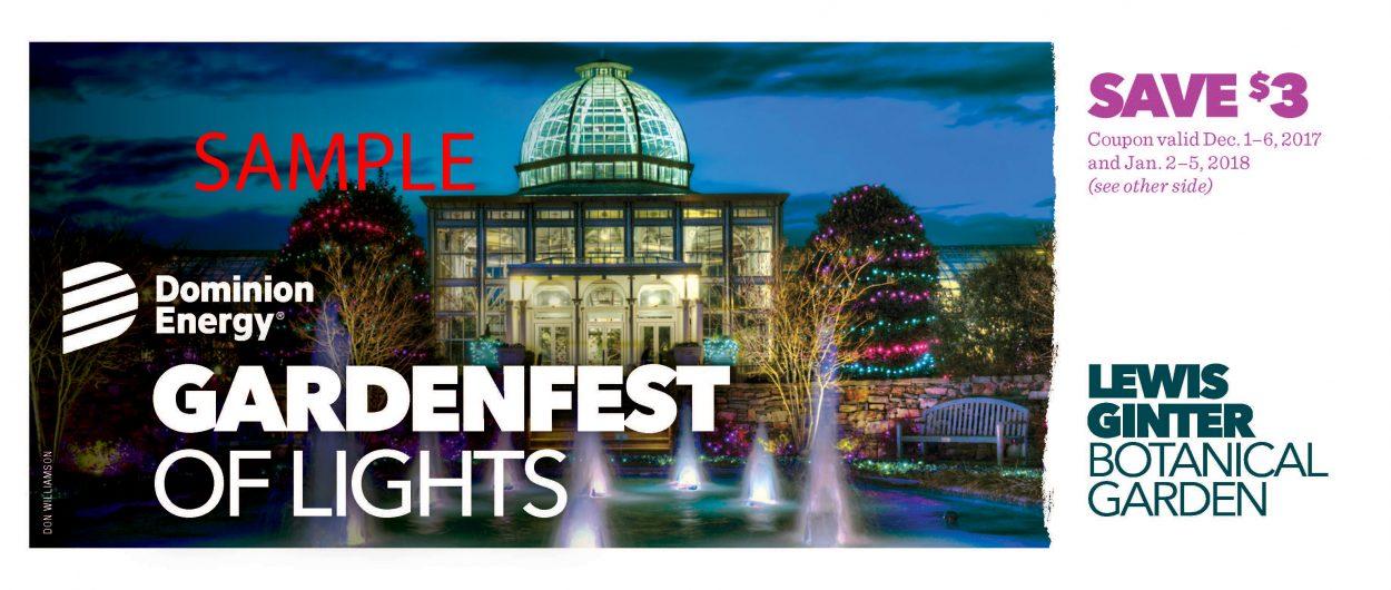 Gardenfest Of Lights Discounts At Lewis Ginter Botanical Garden