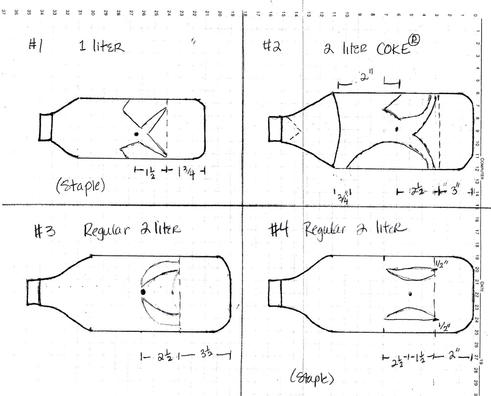 fish bottle diagram and instructions drawing