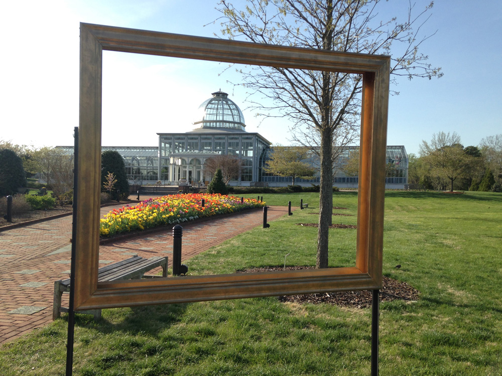 Frame looking at Conservatory