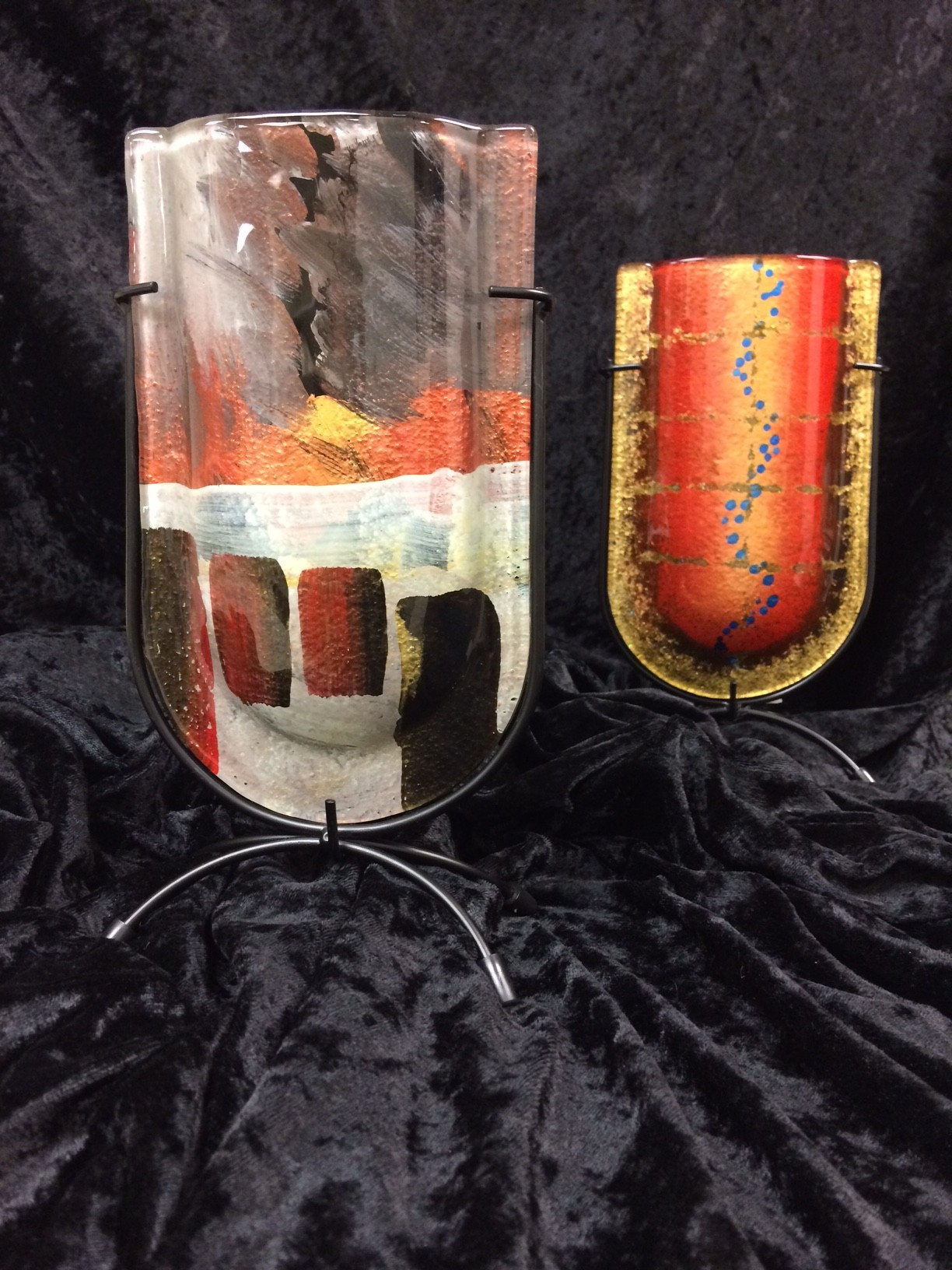 Jasmine Art Glass vase