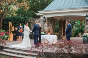 Outdoor weddings at Flagler Garden are serene and intimate. Image by Andrew & Tianna Photography