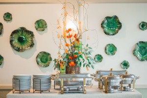 Lovely decor inside of the Robins Tea House. Image by Andrew & Tianna Photography.