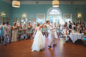 Dancing the night away at the Robins Visitor Center. Image by Don Mears Photography.