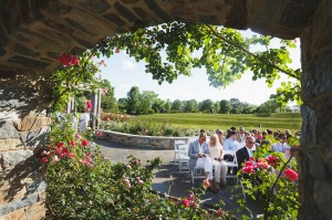 Outdoor weddings at Lewis Ginter Botanical Garden, Rose Garden. Image by Don Mears Photography.