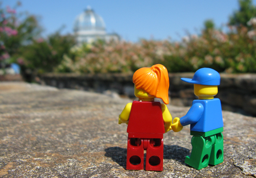 The Conservatory with LEGO minifig people