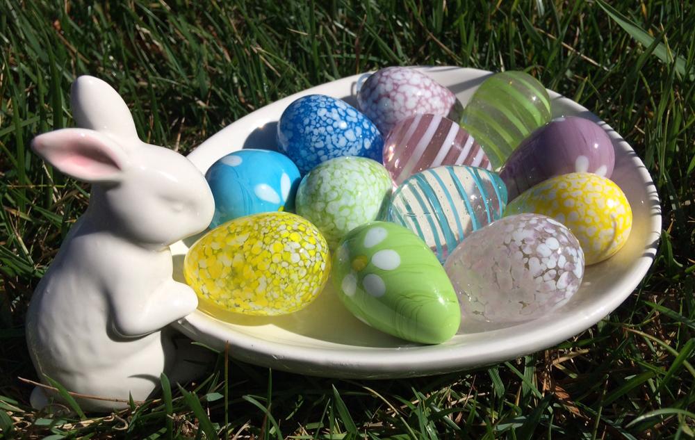 Glass Eggs Easter gift