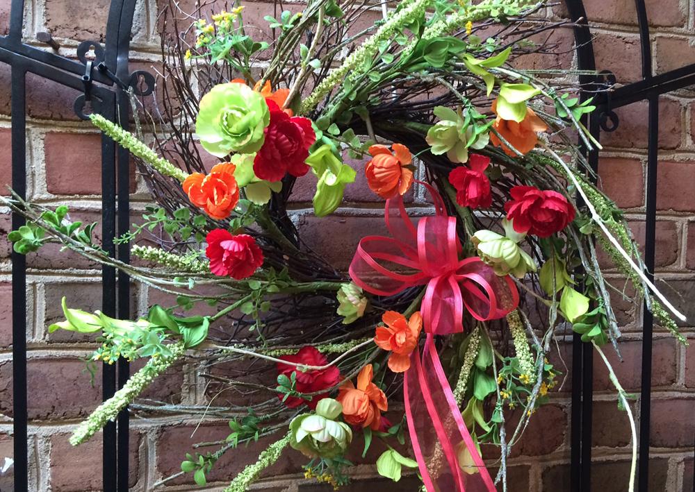 Easter spring wreath