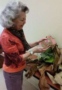 Celeste Johnston making paper making books