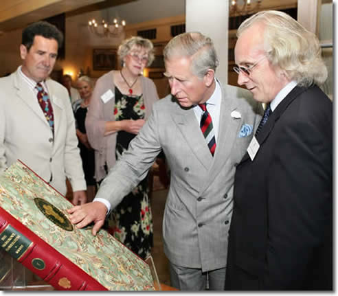 The prince of wales with the Highgrove floregium.