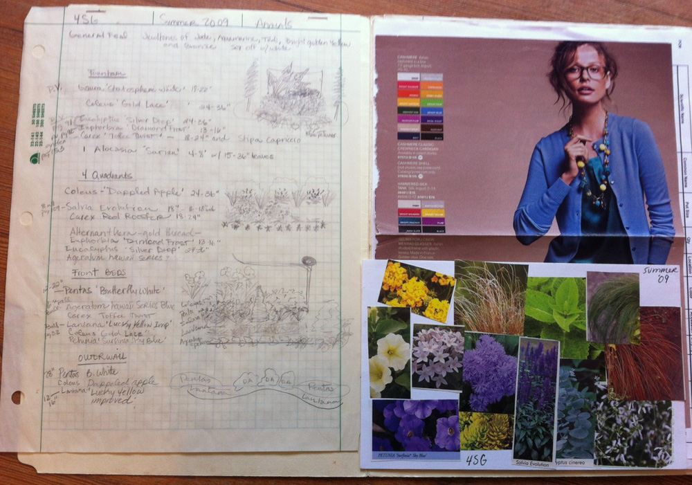 Main Garden Walk bed mood board and plant list