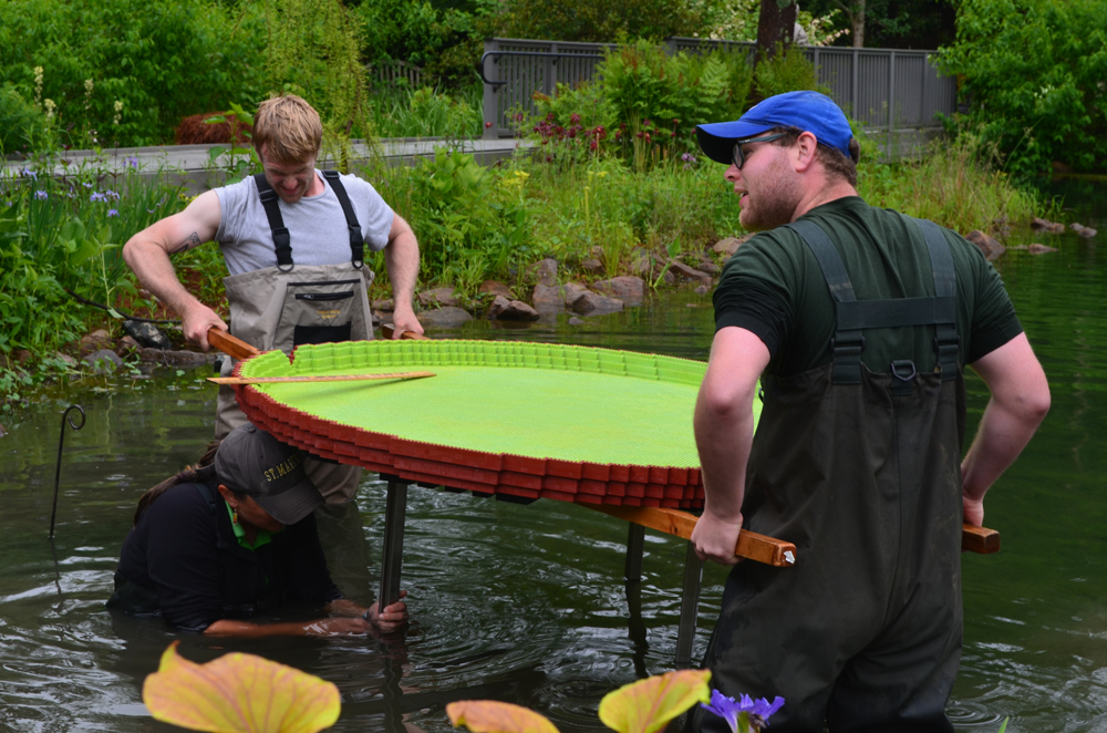 Ryan Olsen, seasonal gardener, Laurel Matthew, Stephen Chisum, Operations Assistant
