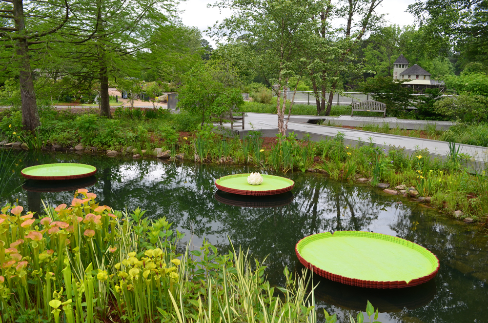 LEGO lily pads with tree house