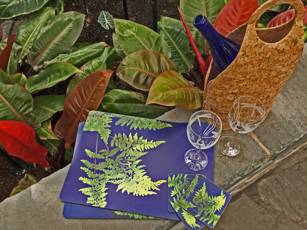 placemats, wine tote and glasses 1000