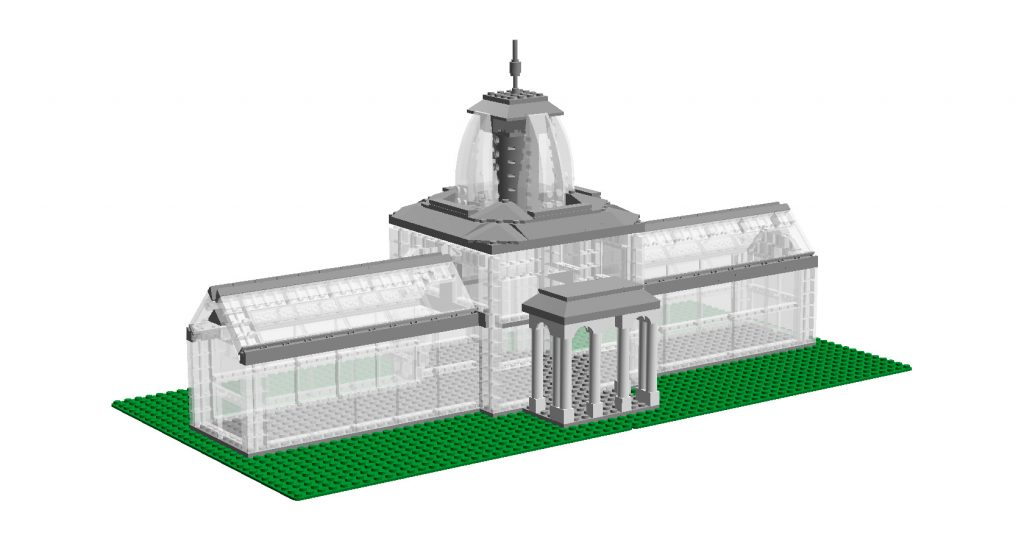 LEGO brick AC model of Conservatory