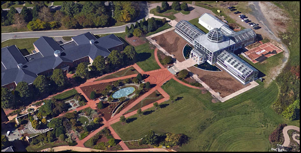 model of Conservatory -- aerial photo