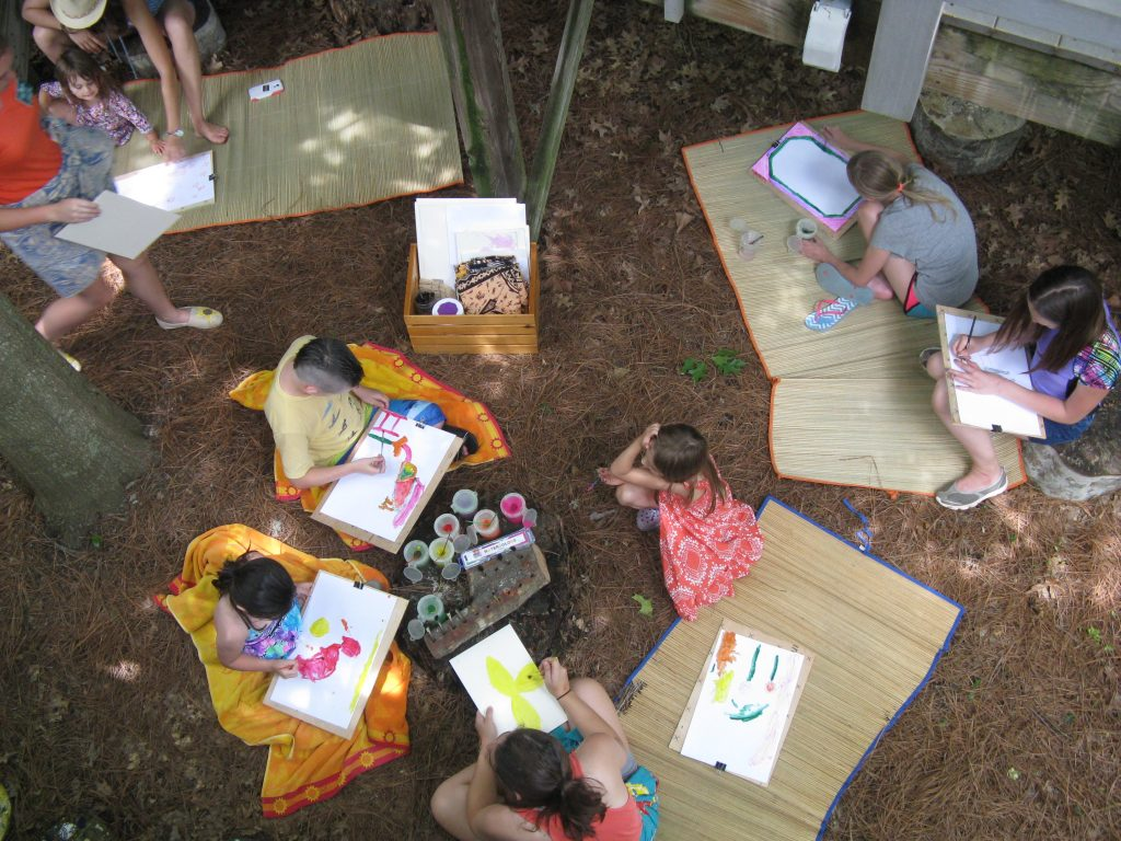 All ages and abilities are welcomed in the Garden Art Studio!