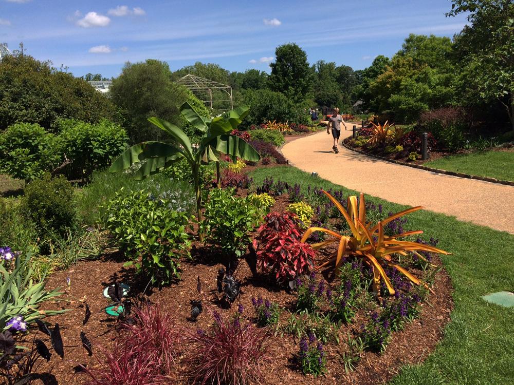 Main Garden Walk at Lewis Ginter Botanical Garden showing the Garden Design.