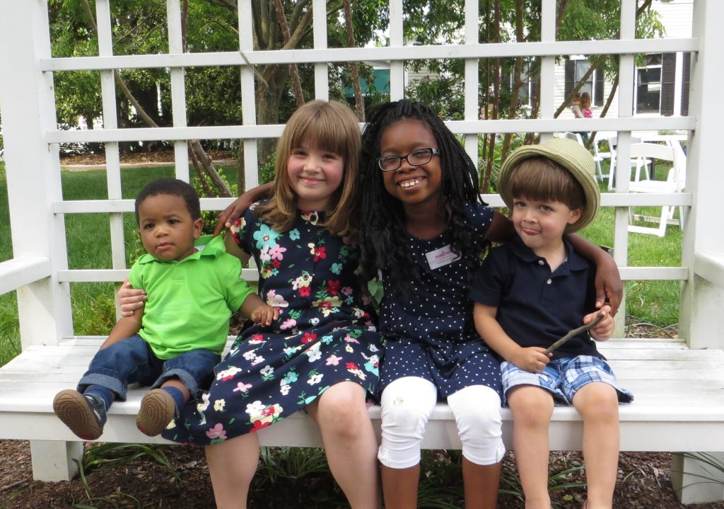 Kids at Lewis Ginter on Mother's Day