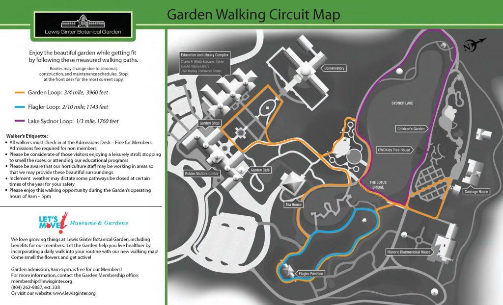 walking trails at Lewis ginter botnical garden