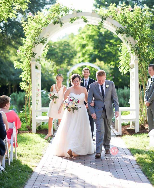 kristen and justin brown wedding grace arents garden