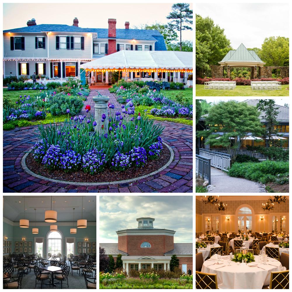 garden wedding venue collage