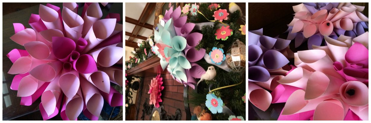 DIY paper dahlias from Dominion GardenFest of Lights.