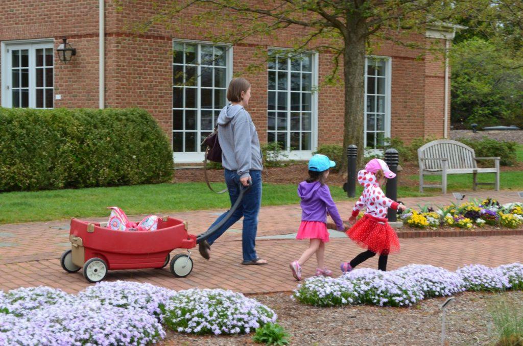 Family enjoying Lewis Ginter Botanical Garden in Spring by Beth Monroe