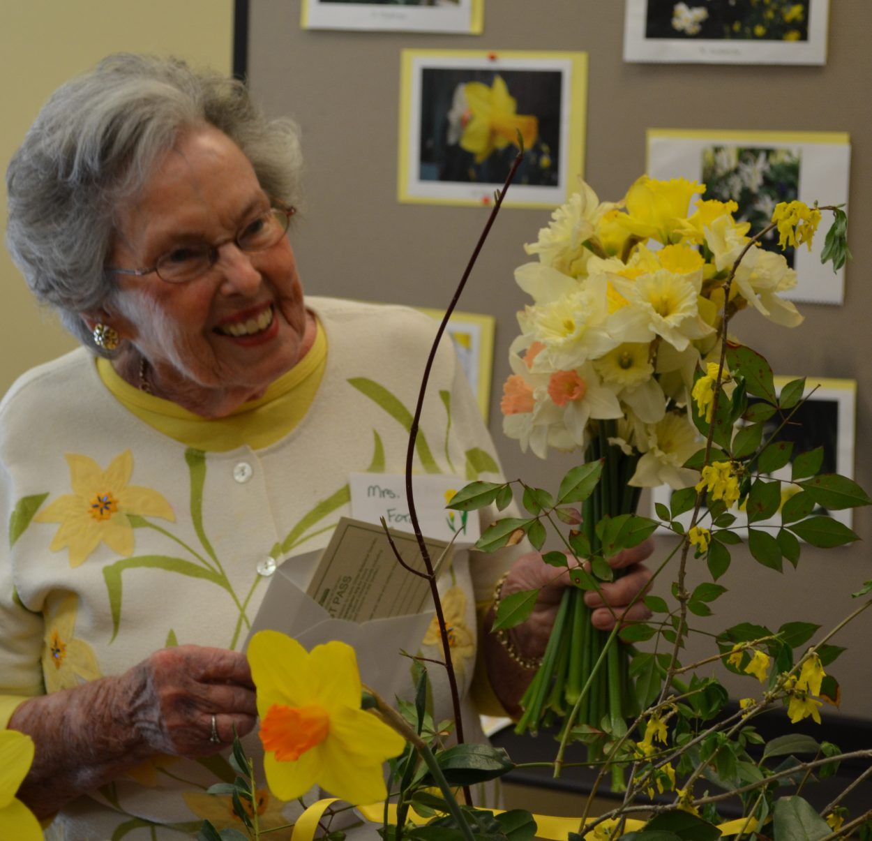 Margaret Ford at a flower show
