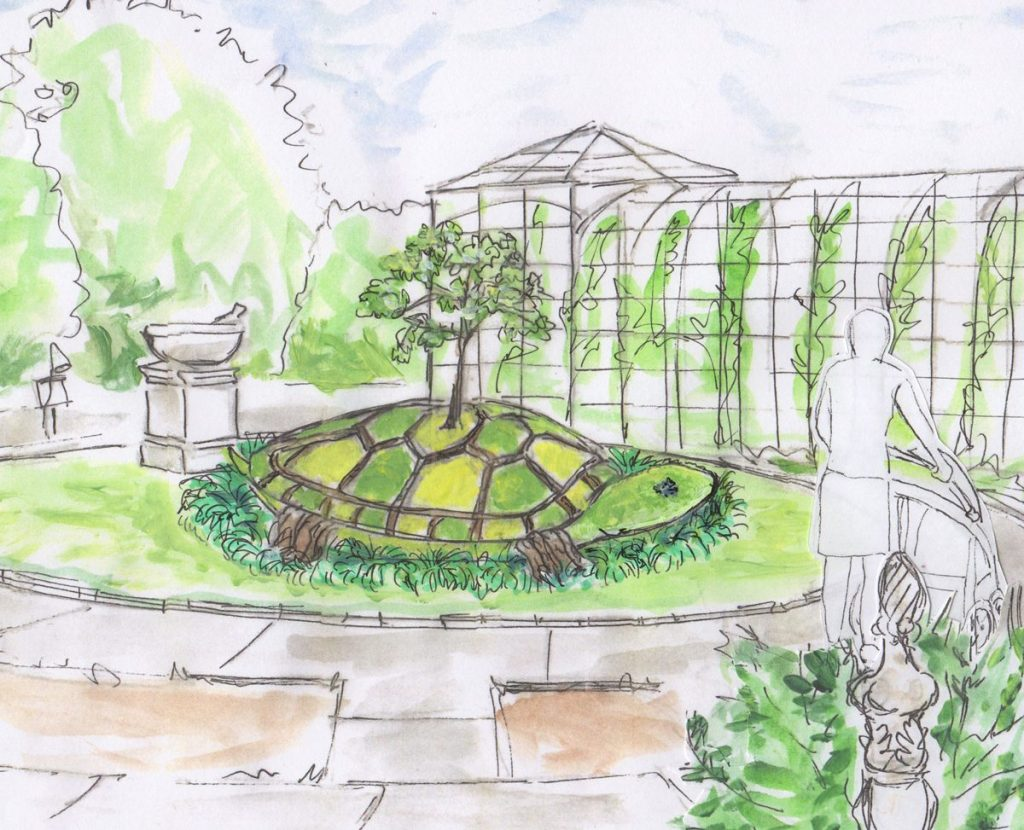 Turtle Island drawing by artist Colleen Hall
