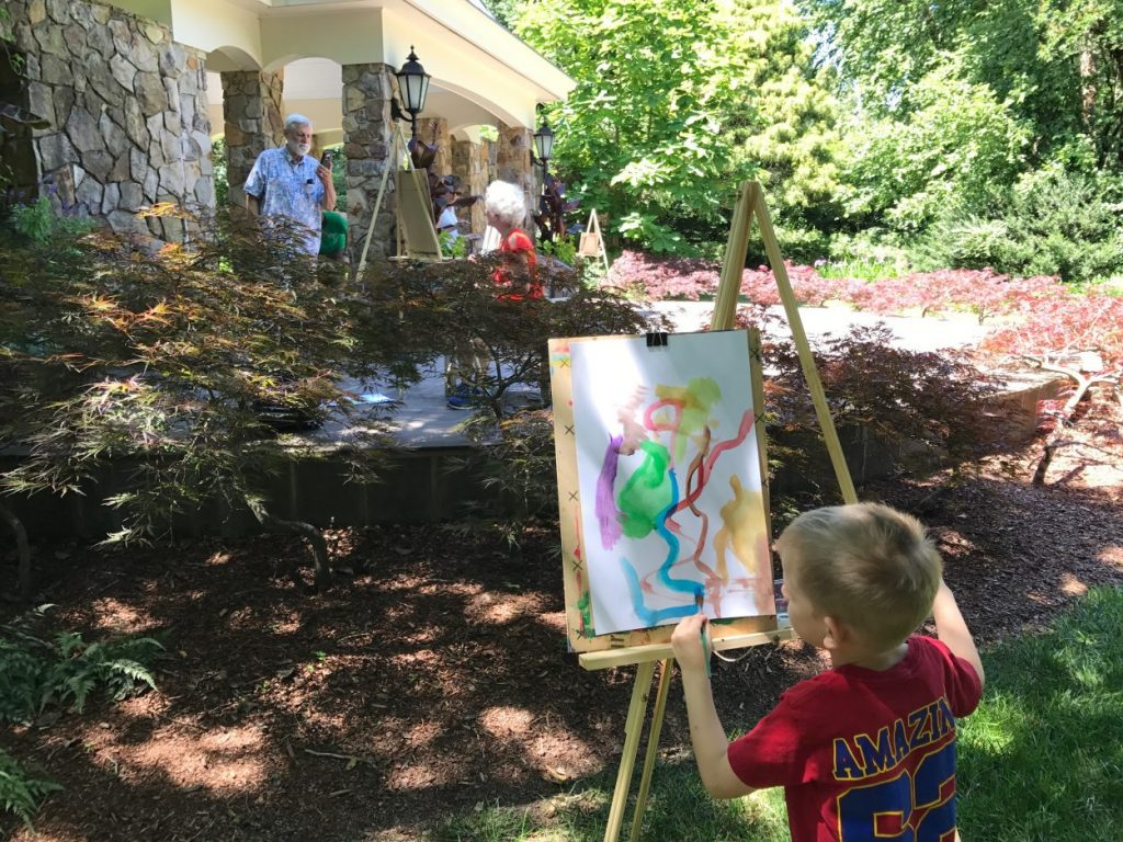 Families and kids can paint outdoors during Plein Air painting.