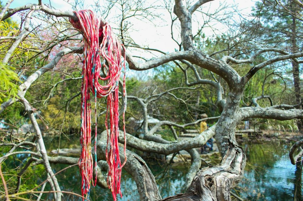 Shreds: What goes around, comes around. Part scarf, part necklace, pure style, these stretchy tubes of soft jersey knit are upcycled fabric remnants cleverly re-imagined into neckwear by the textile artists at Donna Bella Shreds. Handmade in Des Moins, Iowa, each Shred is a unique combination of color and texture, bound together into a chic fashion accessory. Sizes and prices vary.