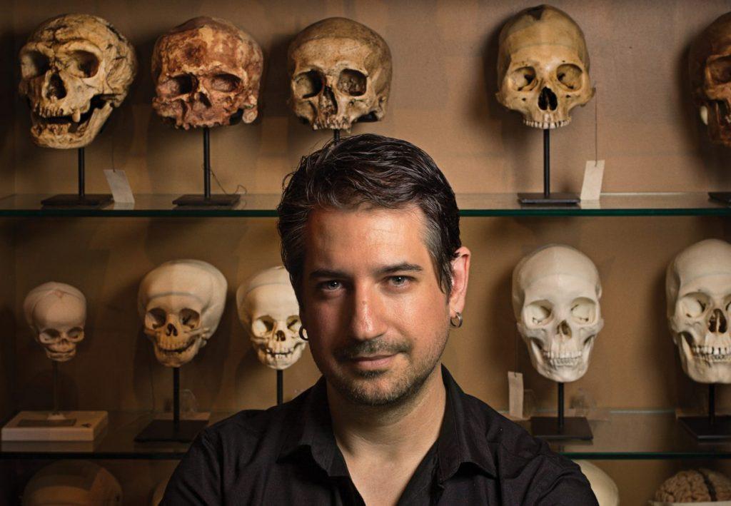 Richmond Skull-a-Day artist Noah Scalin. Image by Bill Wadman